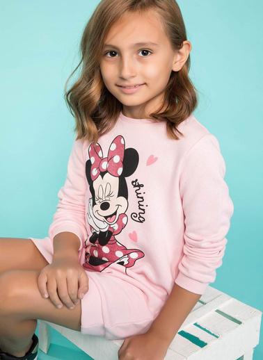 DeFacto Minnie Mouse Baskılı Elbise Pembe